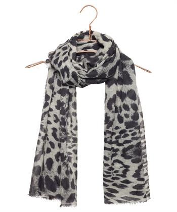 ALLOVER ANIMAL PRINT, WOL/ZIJDE, 90X190