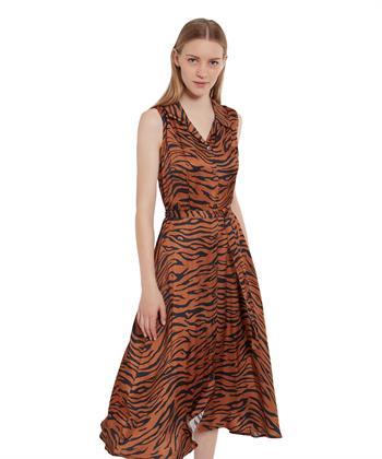 Ana Alcazar doorknoopjurk tijgerprint