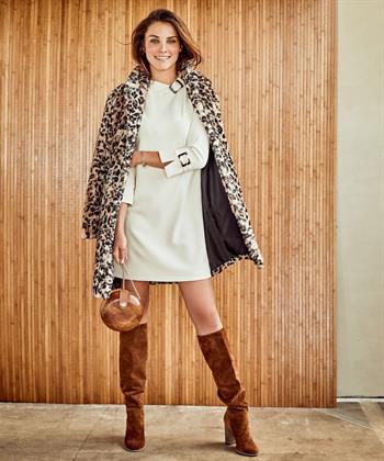 Ana Alcazar jurk opstaande kraag