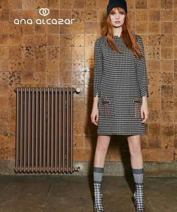 Ana Alcazar jurk pied de coq