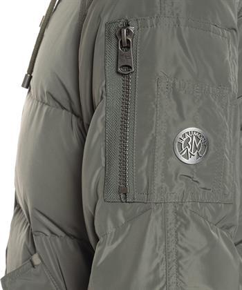 Beaumont gevoerde jas met fake fur bontkraag