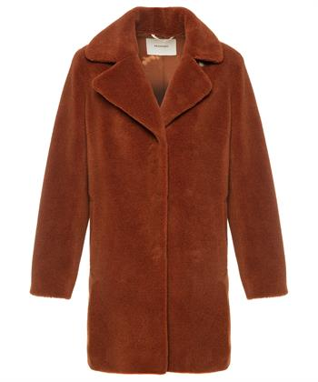 Beaumont mantel imitatiebont cognac