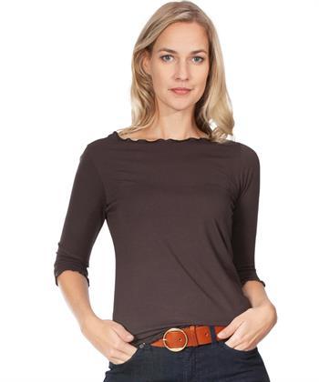 BeOne boothals shirt met schulprand
