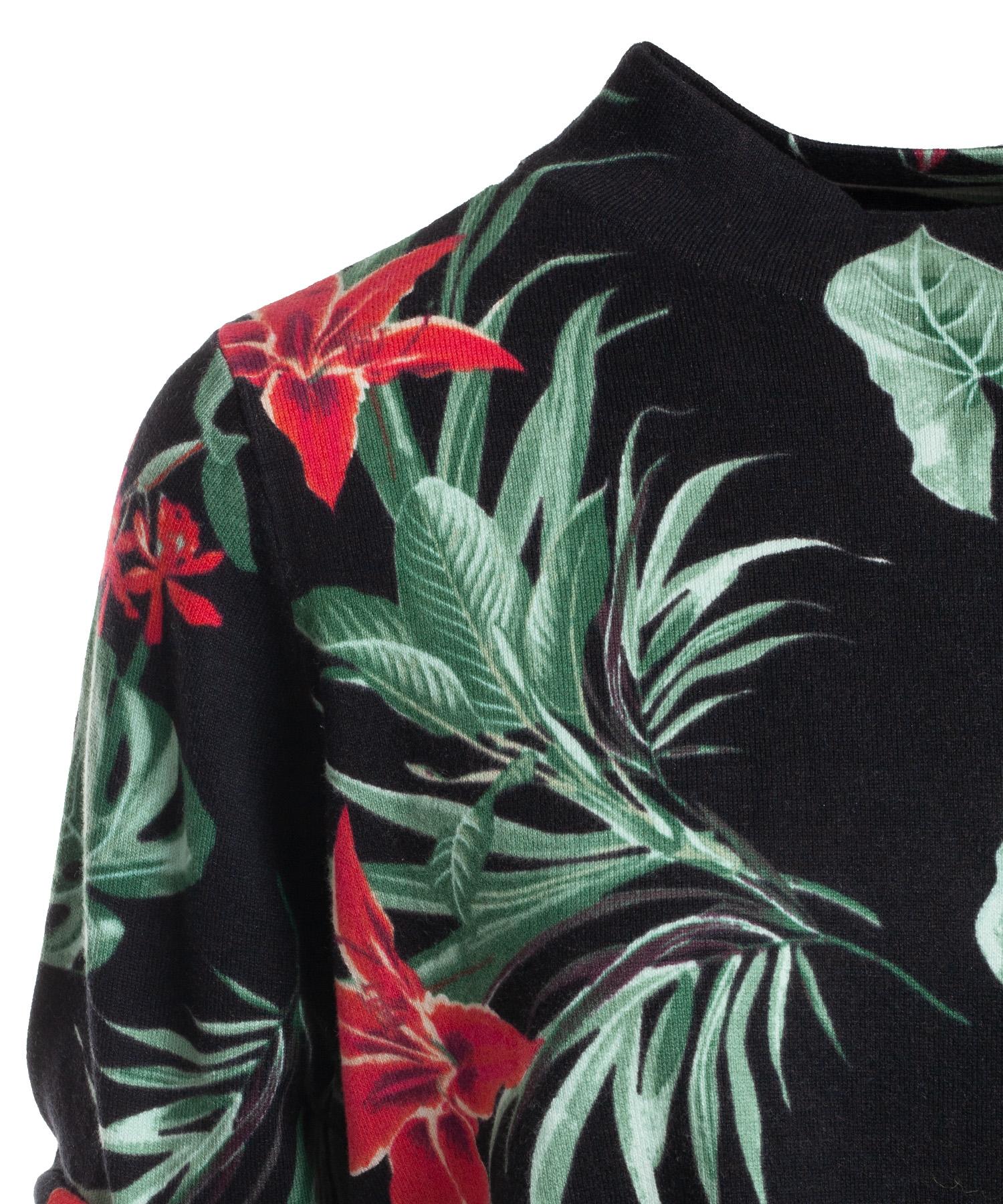 BeOne pullover tunnelkoord bloem