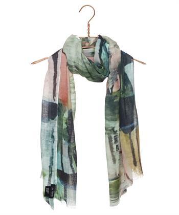 BeOne shawl aquarel print