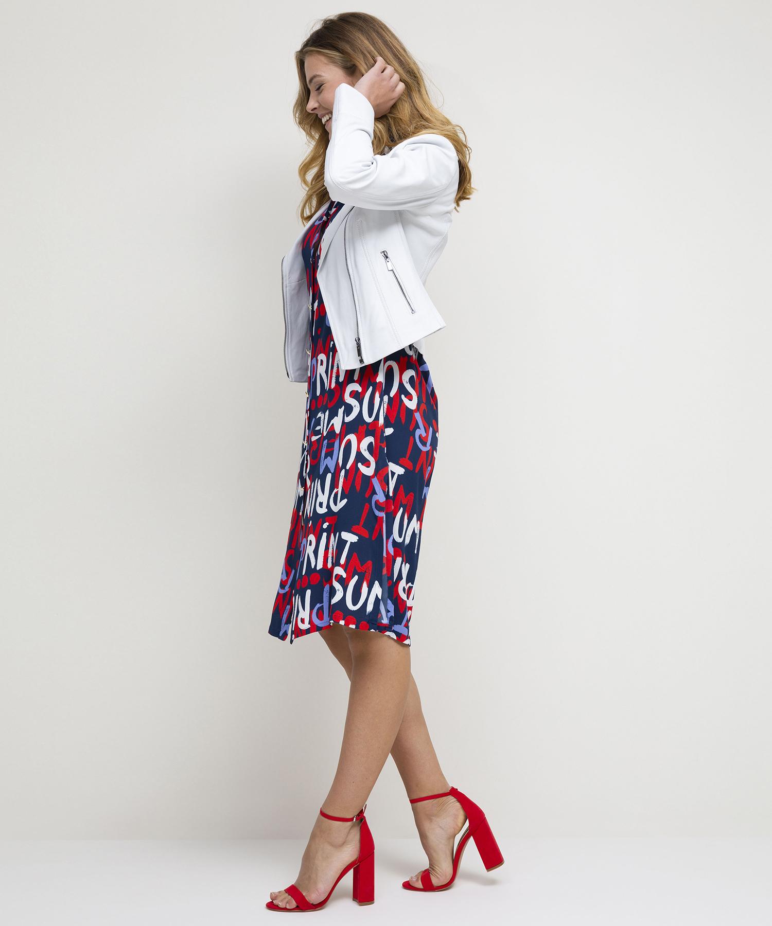 Caroline Biss letterprint jurk