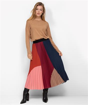 Caroline Biss rok met gekleurde vakken