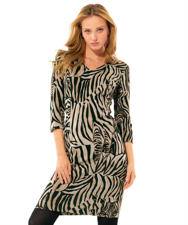 Caroline Biss zebraprint jurk