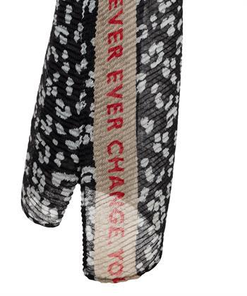 Codello plissé shawl dierprint