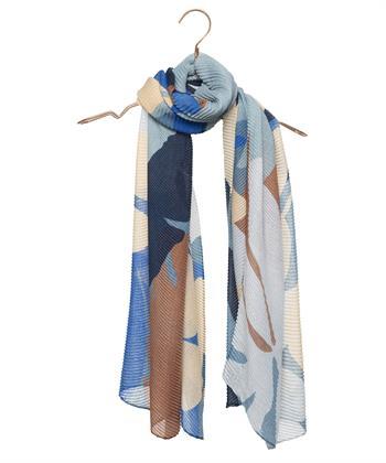 Codello plissé sjaal bloem