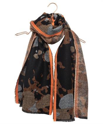 Codello shawl grove camouflage print