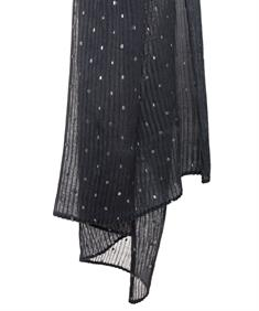 Fraas plissé shawl zilverdots