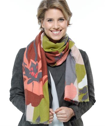 Fraas shawl bloemprint
