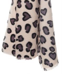 Fraas shawl dierprint harten