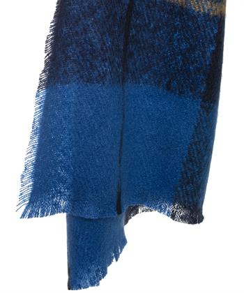 Fraas shawl ruitprint oceaan
