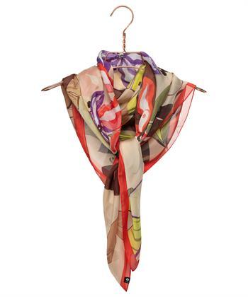 Fraas sjaal bladprint