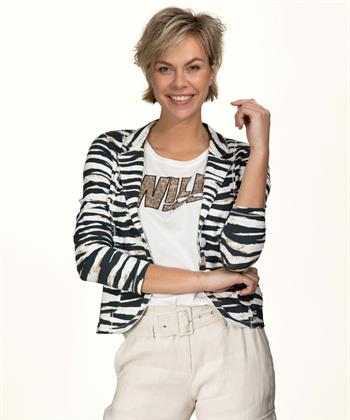 Giulia e Tu blazer zebraprint