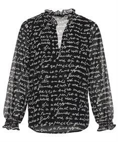 Giulia e Tu blouse letterprint