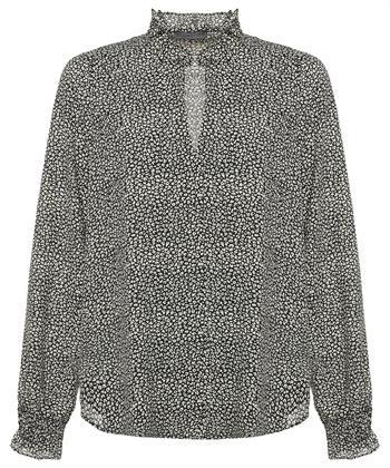 Giulia e Tu blouse luipaard print