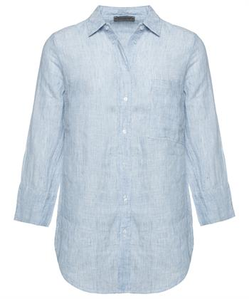 Giulia e Tu gestreepte blouse linnen