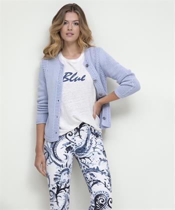 Giulia e Tu linnen shirt 'Blue'