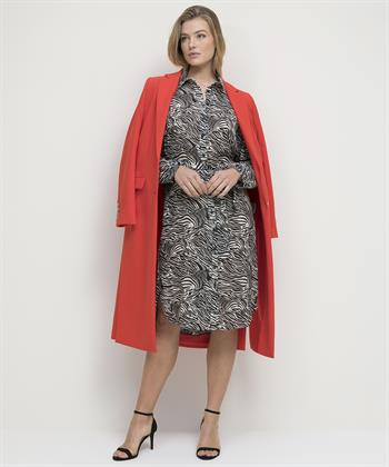 Jane Lushka doorknoop blousejurk Blanche