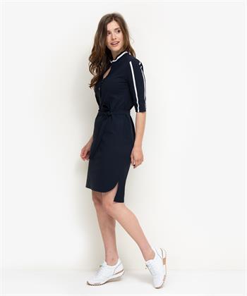 Jane Lushka jurk met contrastbies