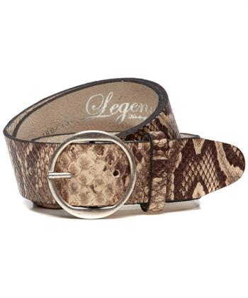 Legend brede leren riem pythonprint