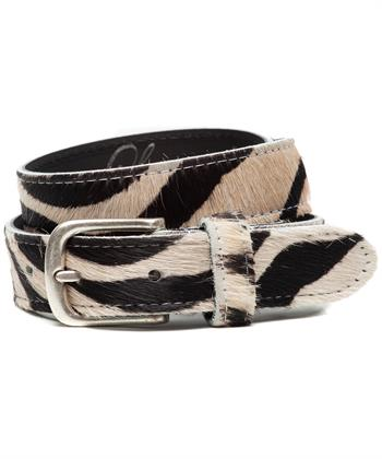 Legend riem zebraprint