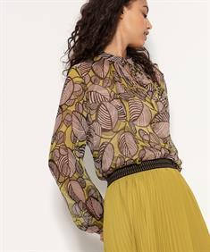 Luisa Cerano blouse bladprint