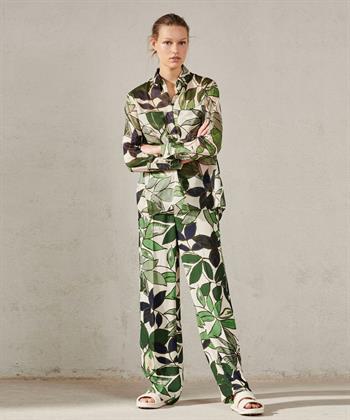 Luisa Cerano blouse met leaf print
