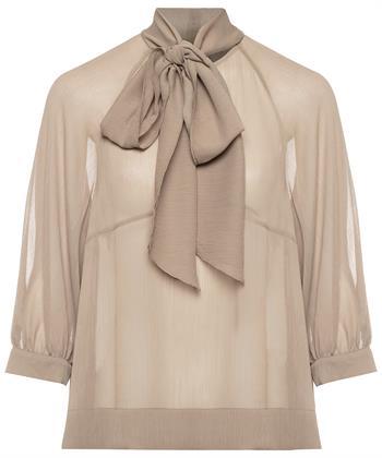 Luisa Cerano blouse met strikdetail