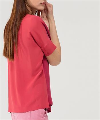 Luisa Cerano boxy zijden shirt