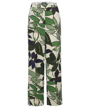Luisa Cerano broek met leaf print