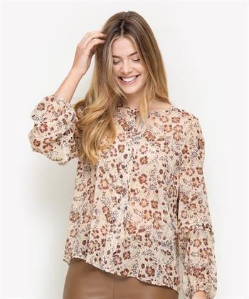 Luisa Cerano crepe blouse