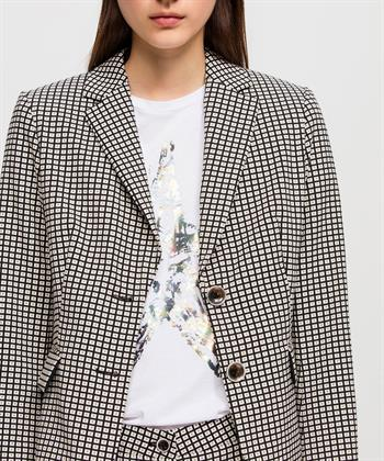 Luisa Cerano geruite blazer