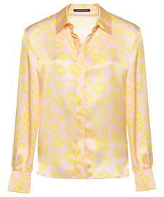 Luisa Cerano roze blouse 'kusjes'