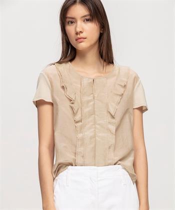Luisa Cerano shirt met ruches
