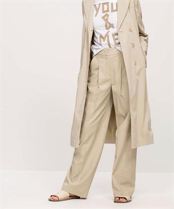 Luisa Cerano wijde broek met glans