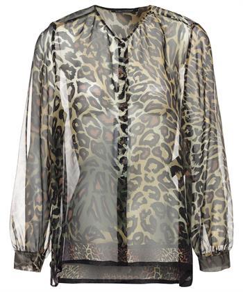 Luisa Cerano zijden blouse dierprint