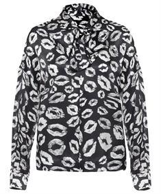 Luisa Cerano zijden blouse 'kusjes'