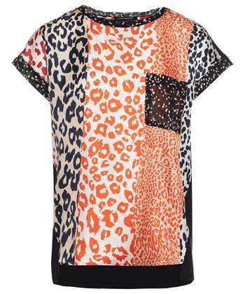 Luisa Cerano zijden shirt dierprint