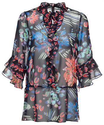 Marc Cain bloemen blouse rushes
