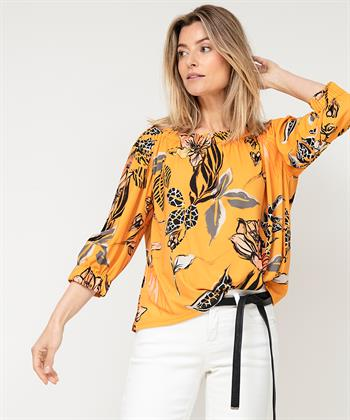 Marc Cain bloemenshirt off-shoulder