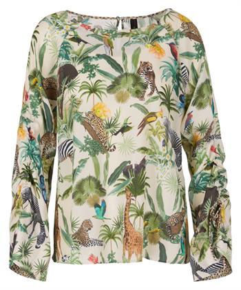 Marc Cain blouse jungleprint met zijde