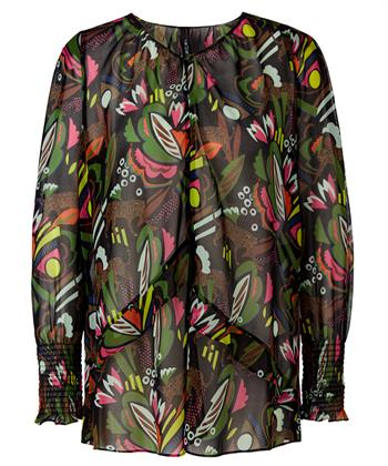 Marc Cain blouse kleurrijke jungleprint