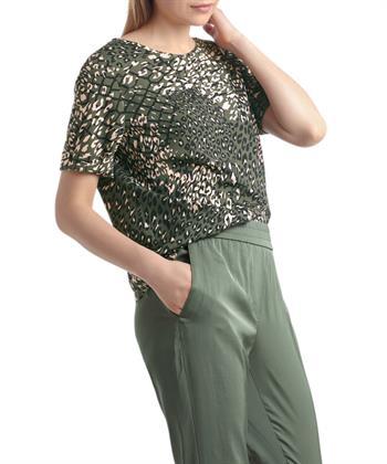 Marc Cain blouse mesh luipaardprint