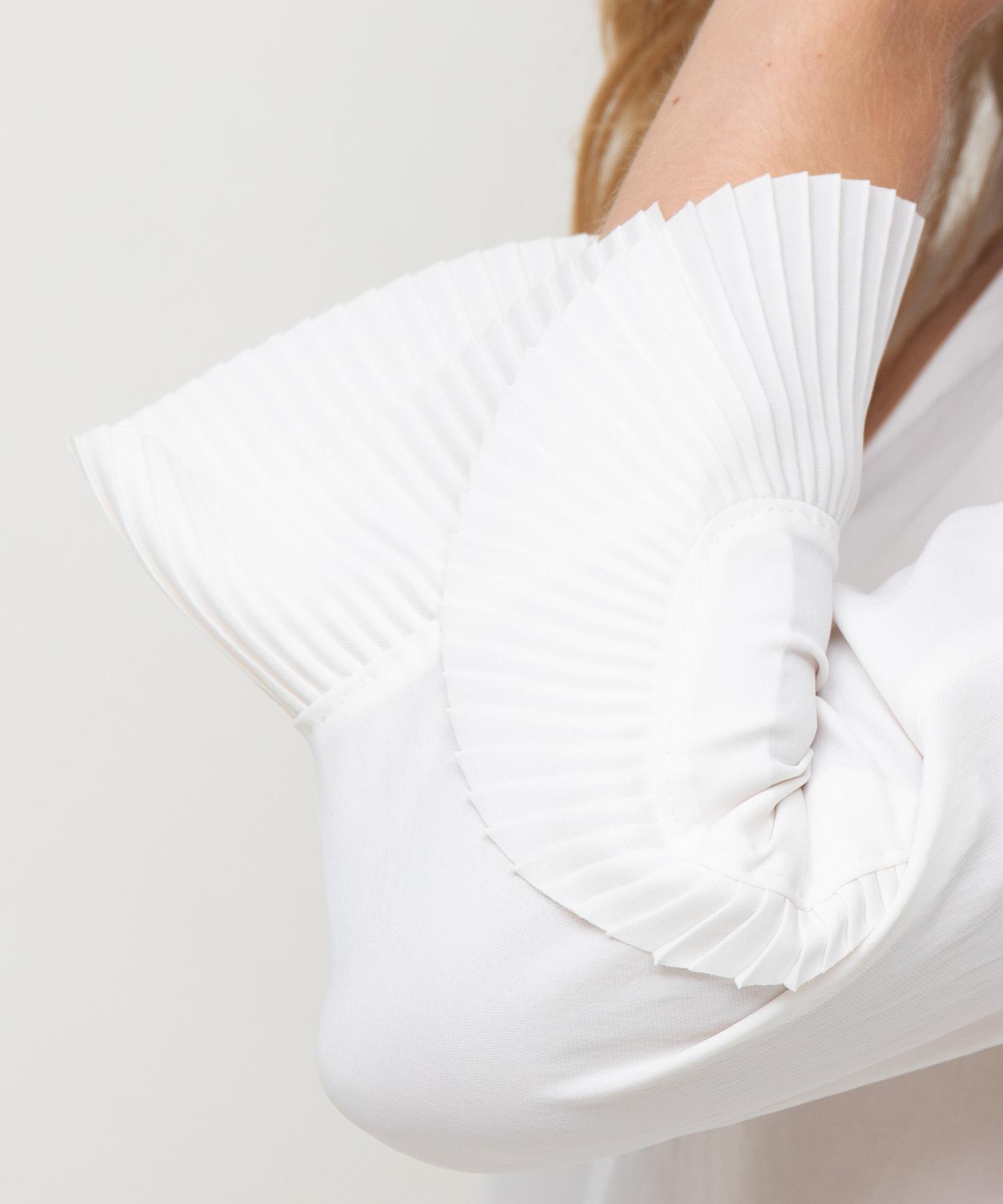 Marc Cain blouse met plissé plooien