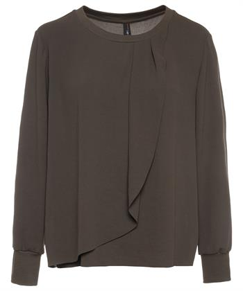 Marc Cain blouse plooidetails