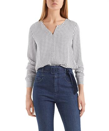 Marc Cain blouse-shirt strikjesprint